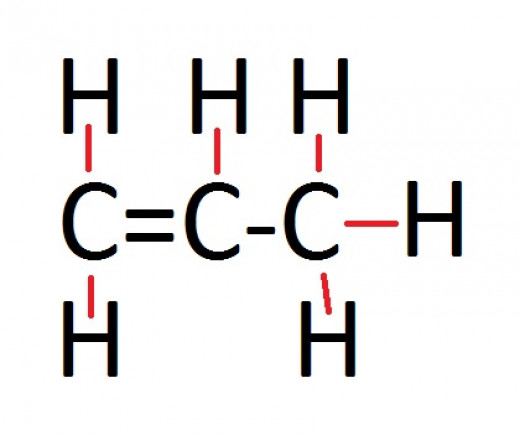 Displayed formula of propene