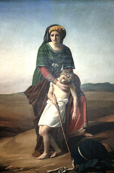 A depiction of Hagar and Ishmael in the desert by François-Joseph Navez http://en.wikipedia.org/wiki/Ishmael