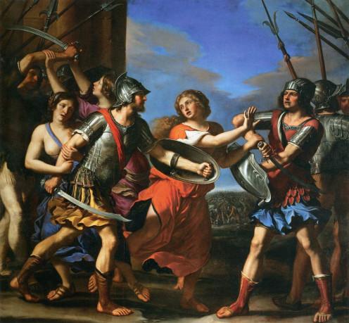 Sabine Girl Separates Romulus and Tatius