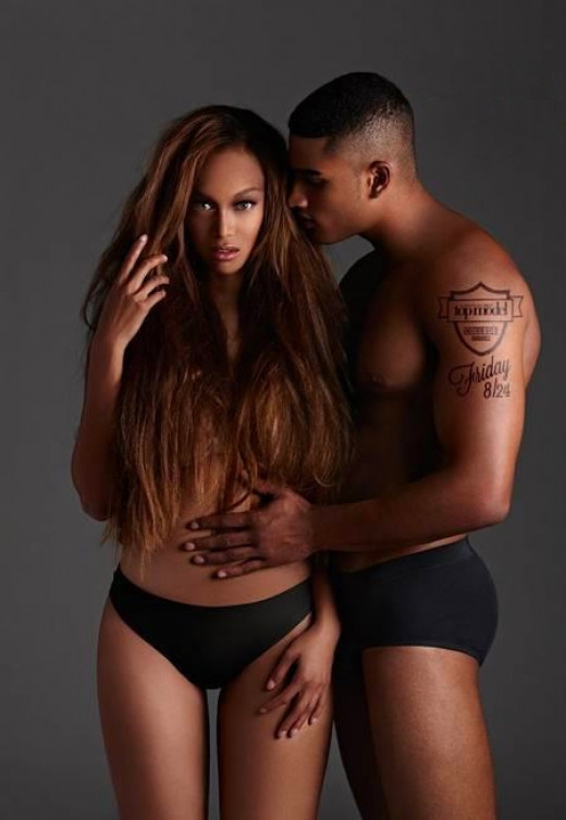 Rob Evans & Tyra Banks