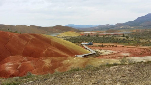 Deep, rich colors at the Painted Hills in Oregon