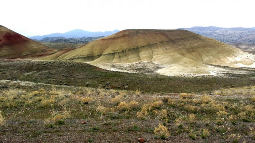 "One of many beautiful ""Painted Hills"" in the National Monument near Mitchell, Oregon"