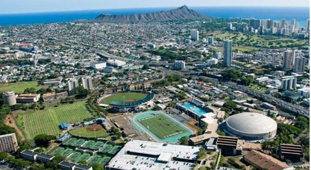 UH Manoa is the flagship campus located on Oʻahu.