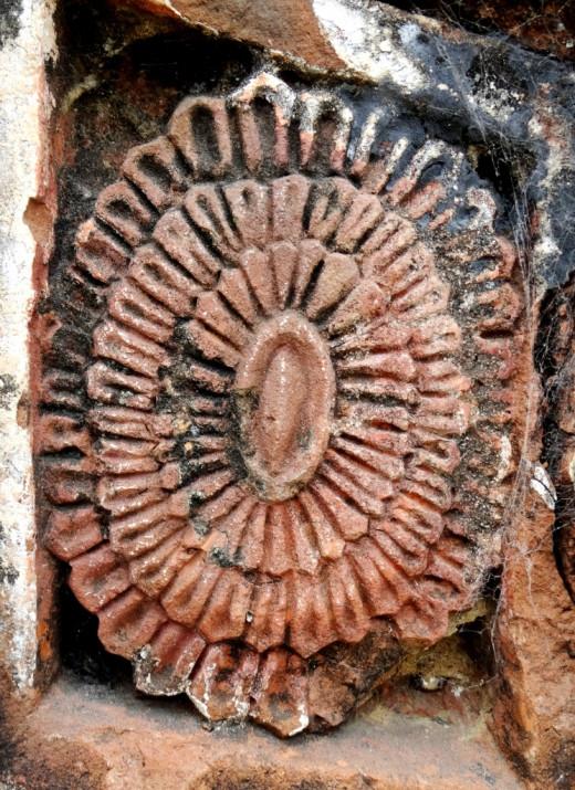 Terracotta floral design 1