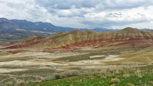 The Painted Hills in Oregon from the Overlook
