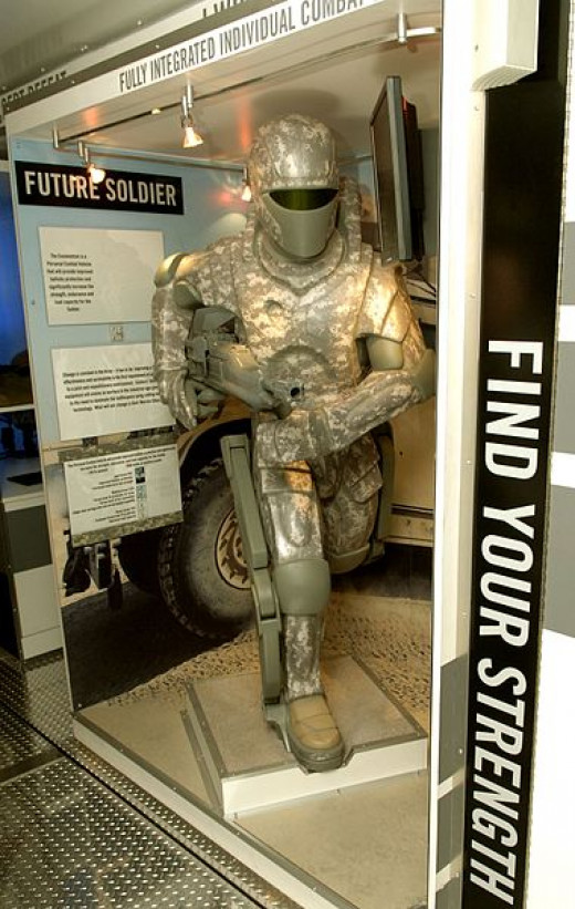 Hypothetical U.S. Army armored exoskeleton