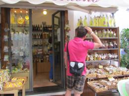 Outside the Limoncello shop, Amalfi