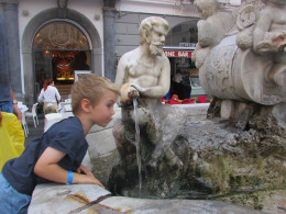 Our youngest loved the elaborate fountains - I don't think he has ever drunk so much water!