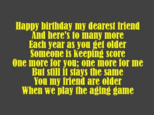 Friend Birthday Poem