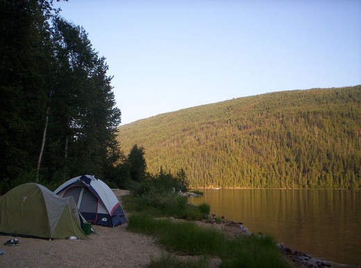 Beautiful camp site.  Barriere, British Columbia, Canada.