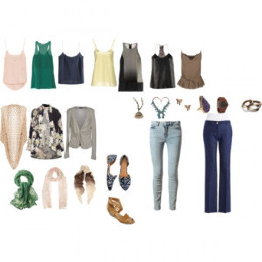 The basic Day wardrobe of a Free Spirit.