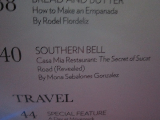 My column is called Southern Bell, and I review restaurants in the south, which is my part of town.