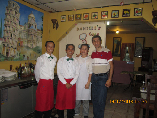 Daniele and his staff.