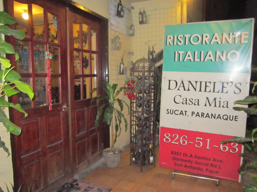 Entrance to Daniele Casa Mia