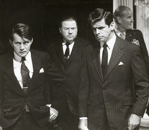 William Devane with Martin Sheen in The Missiles of October (1974)