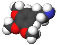 Mescaline molecular structure