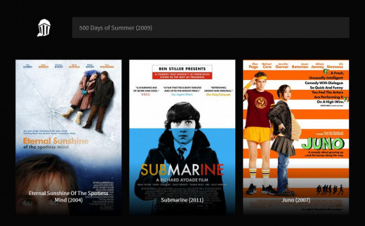 "A search for ""500 Days of Summer"" generated these three results."