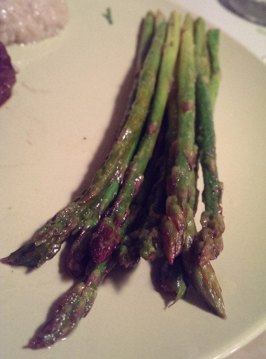 Because of the baking, the asparagus is not soggy and the tips are satisfyingly crunchy!