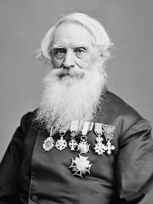 Samuel F. B. Morse, co-inventor of the telegraph. Photograph taken sometime between 1865 and 1880