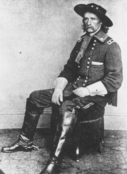 Portrait of General George Armstrong Custer taken in the year of his death, 1876.