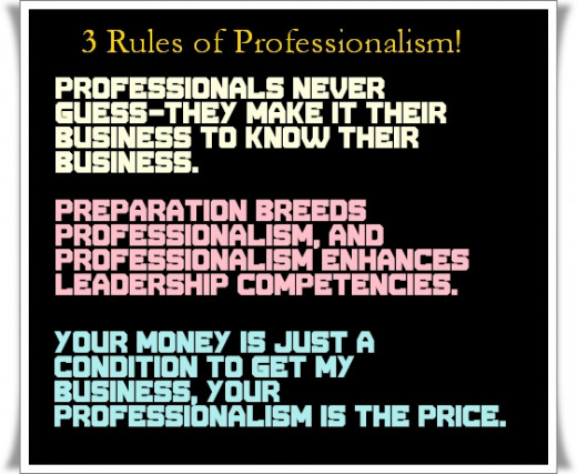 Quotes about Professionalism