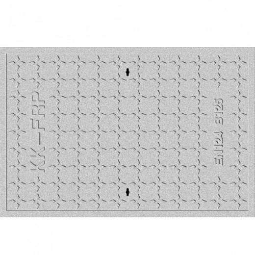 400X600 Square sewer cover B125