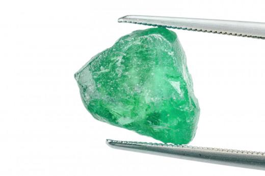 Raw, uncut Emerald gemstone.