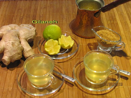 File: Ginger tea.jpg  Author: Irangilaneh CC-BY-SA-3.0