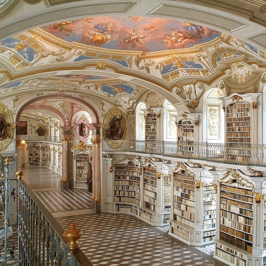 Library at the Benedictine Monastery of Admont — Admont, Austria
