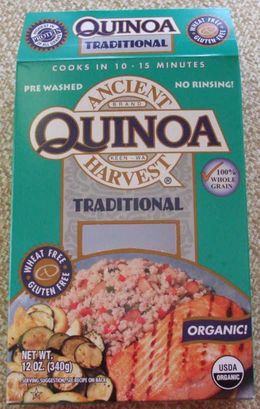 Quinoa is available in boxes at the grocery and also in bulk food markets.