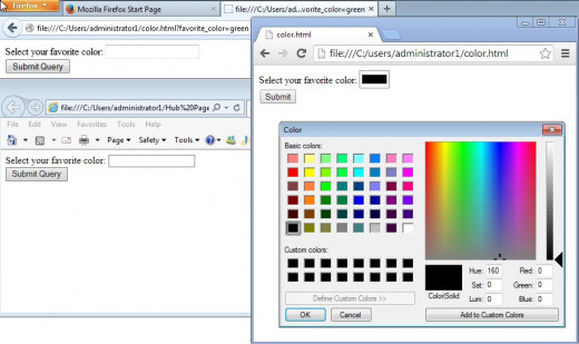 In this simple example with color. Chrome Canary show how robust it is. It pre-fills the input box with color and then when the user click on the input field bring up the color palette. Firefox and IE don't.
