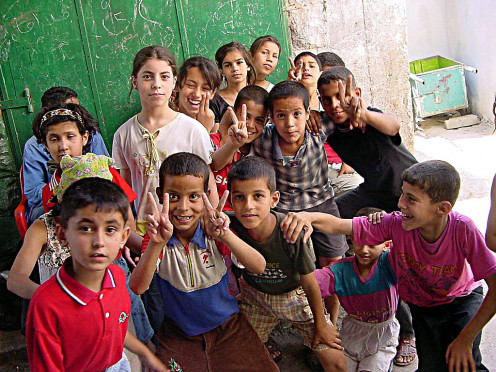 Palestinian children in jenin doing the right thing