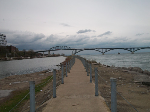 The Nowak Pier in the Niagara River, by the Peace Bridge
