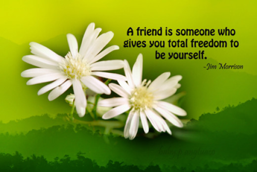 a friends allows you to be yourself