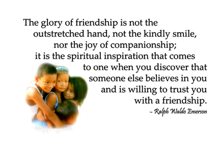 the glory of friendship