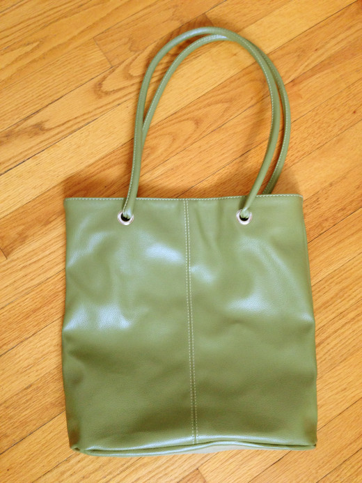 "Sometimes a bag itself can be ""swag,"" such as this leather-like promotional tote."