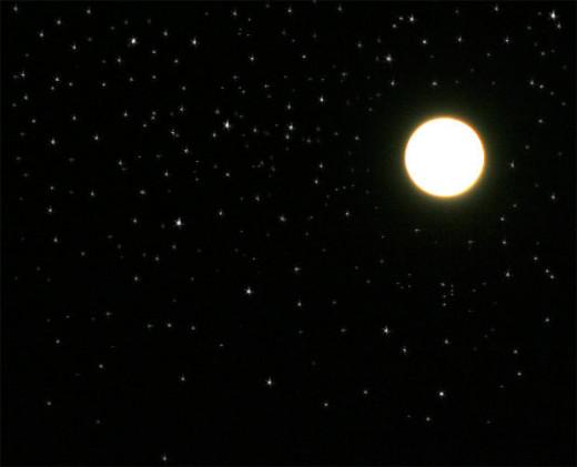 Faith and Sarah gazed at the stars