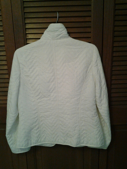 Back of Spring Jacket - Sold on eBay!