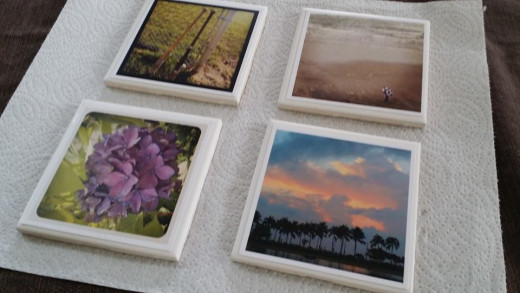 Nature shots work well for photo tile coasters