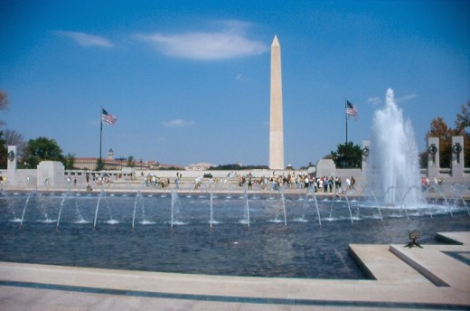 Washington Monument from the National WWII Memorial.