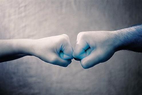 The overused fist bump