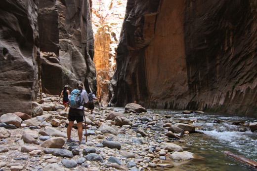 The Narrows in Zion National Park, Utah.