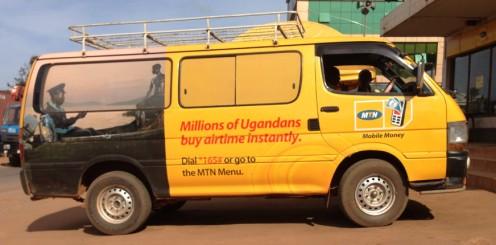Uganda's MTN mobile money van