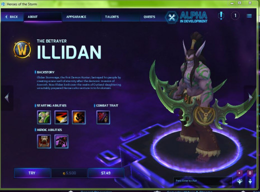 Heroes of the Storm offers a try-before-you-buy option to take heroes for a test-drive.