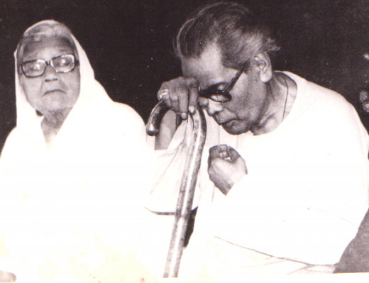 George da with Kanak Biswas on the occasion of felicitation by West Bengal Govt