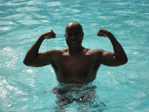 Since I am not a great swimmer I restrict my water workouts to friendly and predictable pools. Ones that are shallow enough where I can stand up and walk out.
