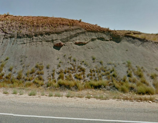 This is what it looks like from the road.  Easy to miss if you don't know what you're looking for.
