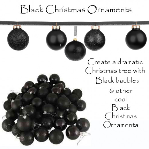 Black Christmas Ornaments