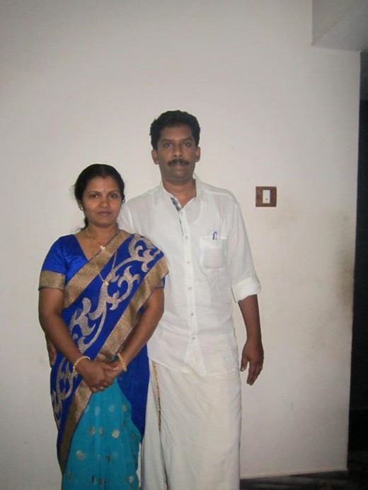 The author with his wife Kavitha in their traditional Kerala dress