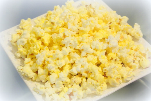 Popcorn is easy and serves plenty, especially if you portion it out for kids on their plate or in small, individual cups.